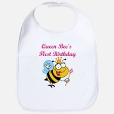 Queen Bee's First Birthday Bib
