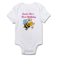 Queen Bee's First Birthday Onesie