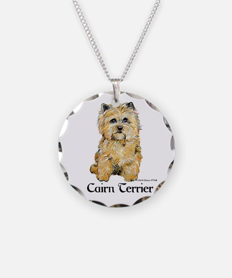 Cairn Terrier Dog Art Necklace