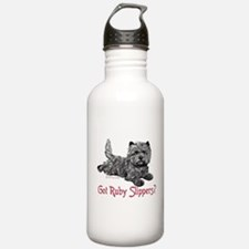 Cairn Terrier Ruby Slippers Water Bottle