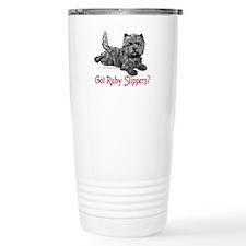 Cairn Terrier Ruby Slippers Travel Mug