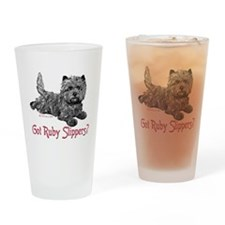 Cairn Terrier Ruby Slippers Drinking Glass