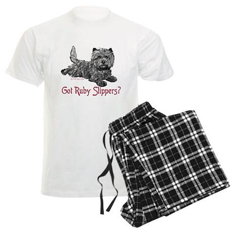 Cairn Terrier Ruby Slippers Men's Light Pajamas