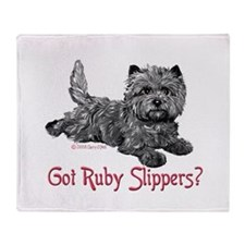 Cairn Terrier Ruby Slippers Throw Blanket
