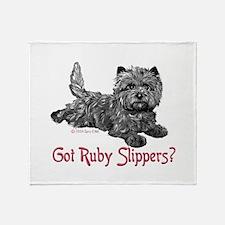 Cairn Terrier Ruby Slippers Throw Blanket