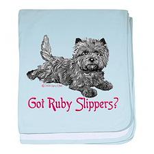 Cairn Terrier Ruby Slippers baby blanket