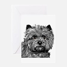 Cairn Terrier Toto Face Greeting Card