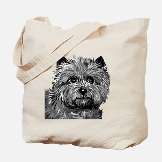 Cairn Terrier Toto Face Tote Bag