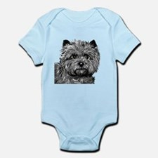 Cairn Terrier Toto Face Infant Bodysuit