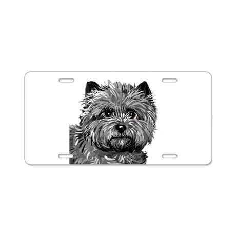 Cairn Terrier Toto Face Aluminum License Plate