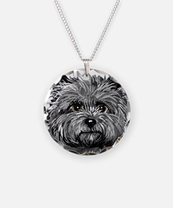 Cairn Terrier Toto Face Necklace