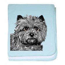 Cairn Terrier Toto Face baby blanket