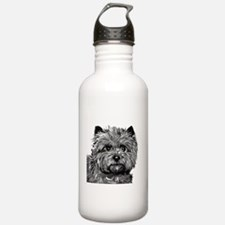 Cairn Terrier Toto Face Water Bottle