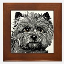 Cairn Terrier Toto Face Framed Tile