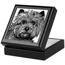 Cairn Terrier Toto Face Keepsake Box