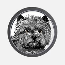 Cairn Terrier Toto Face Wall Clock