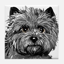 Cairn Terrier Toto Face Tile Coaster