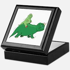 Piggyback Dinosaur Keepsake Box