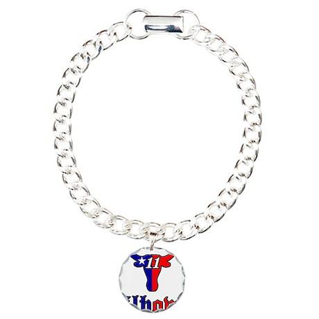 BSElbowzLHflag Charm Bracelet, One Charm