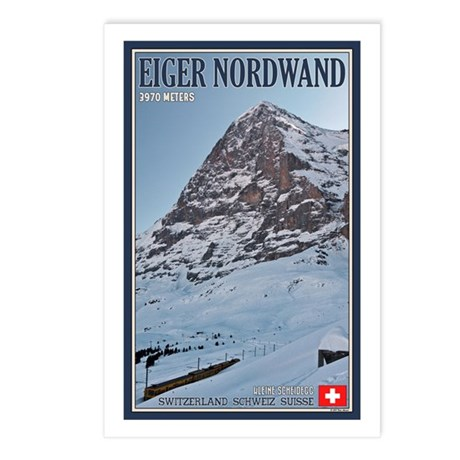 The Eiger and Train Postcards (Package of 8)