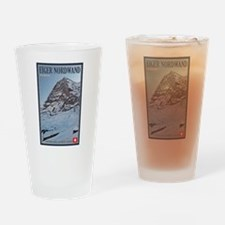 The Eiger and Train Drinking Glass