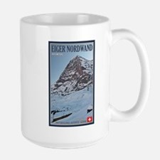 The Eiger and Train Large Mug