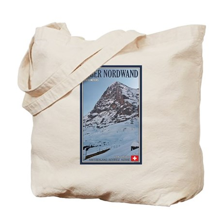 The Eiger and Train Tote Bag