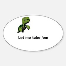 Turtle Tube Sticker (Oval)