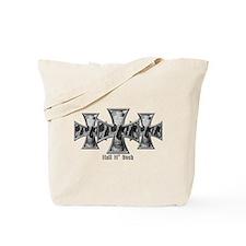 Hell N' Back Skulls Crosses Tote Bag