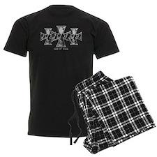 Hell N' Back Skulls Crosses Pajamas