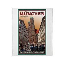 Munich Frauenkirche 2 Throw Blanket