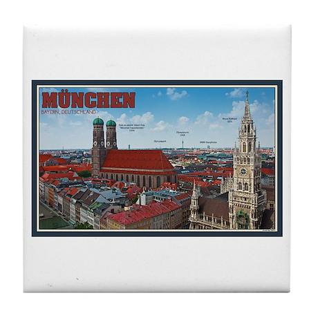Munich Cityscape Tile Coaster