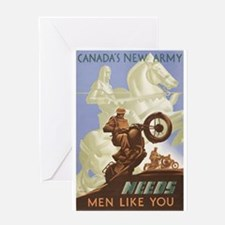 Canada's New Army Greeting Card