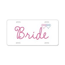 Bride Wedding Set 1 Aluminum License Plate