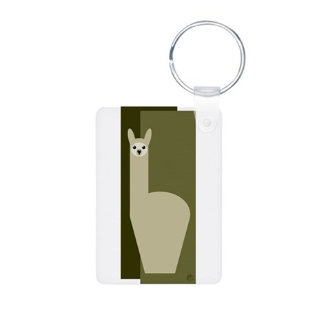 Alpaca Aluminum Photo Keychain