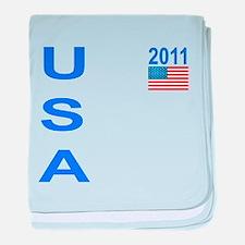 USA 2011 baby blanket