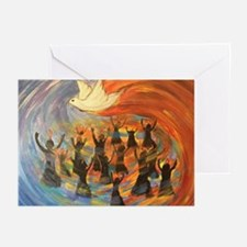 Wind & Fire of Pentecost Greeting Cards