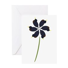 Duck Flower Greeting Card