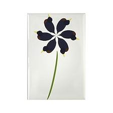 Duck Flower Rectangle Magnet