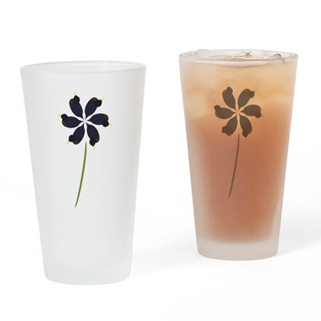 Duck Flower Drinking Glass