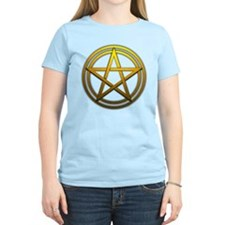 Gold Metal Pagan Pentacle T-Shirt