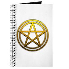 Gold Metal Pagan Pentacle Journal