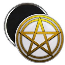 "Gold Metal Pagan Pentacle 2.25"" Magnet (10 pack)"