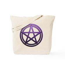 Purple Metal Pagan Pentacle Tote Bag