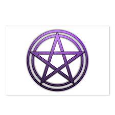 Purple Metal Pagan Pentacle Postcards (Package of