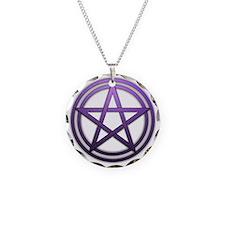 Purple Metal Pagan Pentacle Necklace