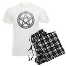 Silver Metal Pagan Pentacle pajamas