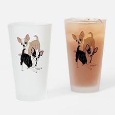 Chihuahua Smooth Coats at Play Drinking Glass