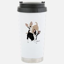Chihuahua Smooth Coats at Play Stainless Steel Tra