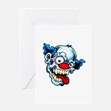 Crazy Clown Greeting Card
